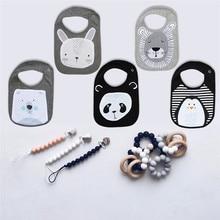 5PCS Mixed Design Cute Animal Dedign Baby Boys Girls Bibs Kids Panda Lion Rabbit Design Bibs