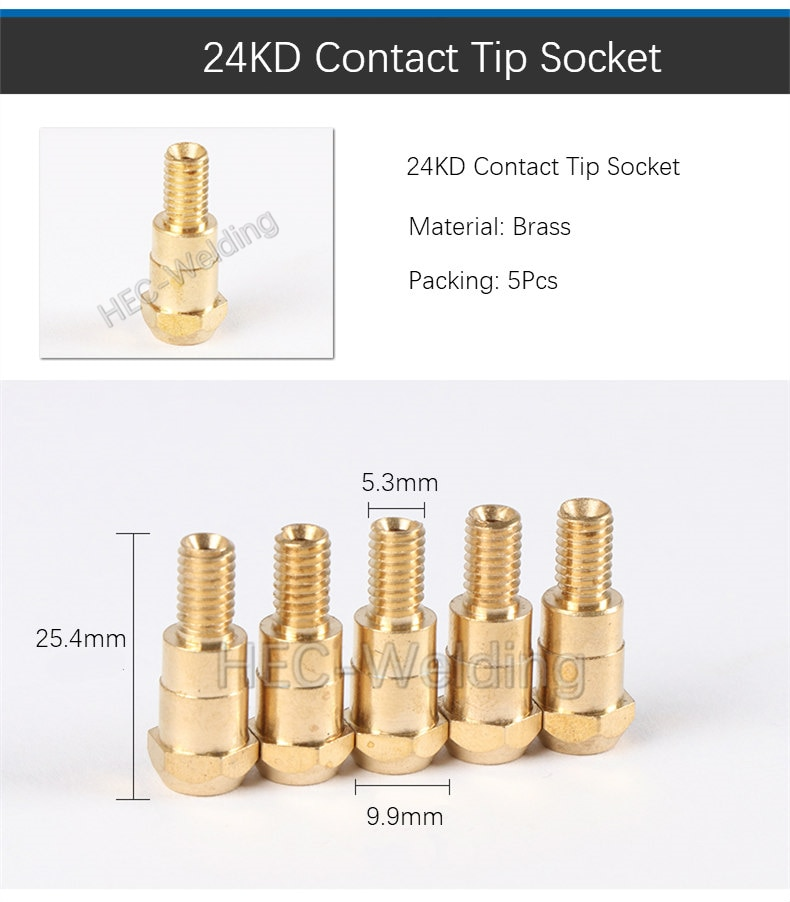 10pcs 24KD Consumables MB 24KD M6 MIG/MAG Welding Torch Contact Tip Gas Nozzle 24KD Welding tool kit High quality copper