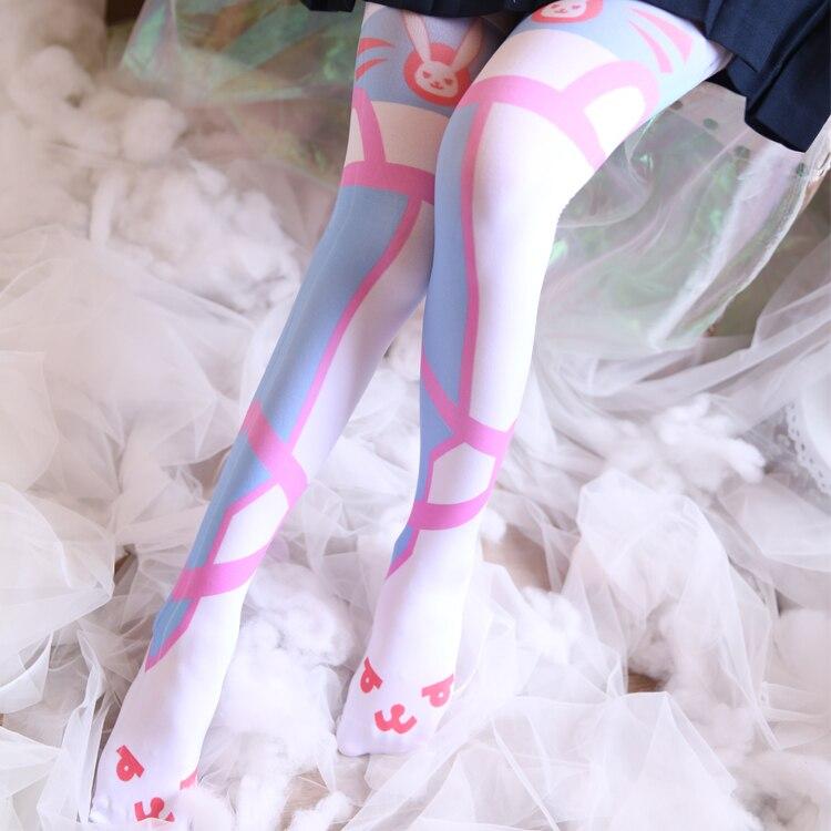 Japanese OW DVA D.va Women Long Socks Tight kawaii Lolita Girls Cosplay Warm Pantyhose Silk Stockings New Leggings Tights