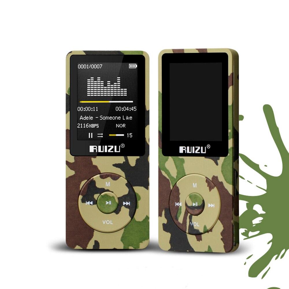 Original RUIZU X02 HiFi APE/FLAC/WAV lecteur MP3 8GB 1.8 écran 80 heures Sport musique lecteur MP3 FM Radio enregistreur vocal E-Book