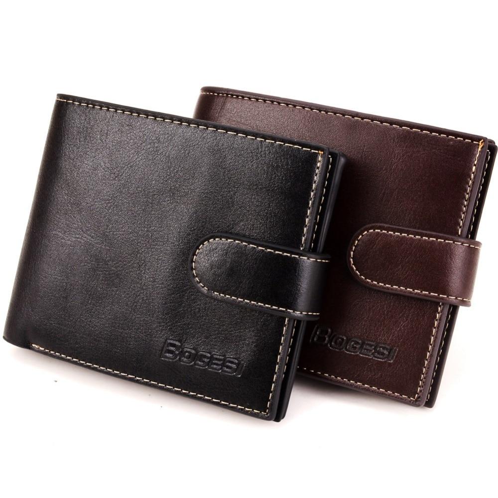 Модный винтажный мужской кожаный брендовый Роскошный кошелек 2021, короткие тонкие мужские кошельки, зажим для денег, кредитных карт, по долл...