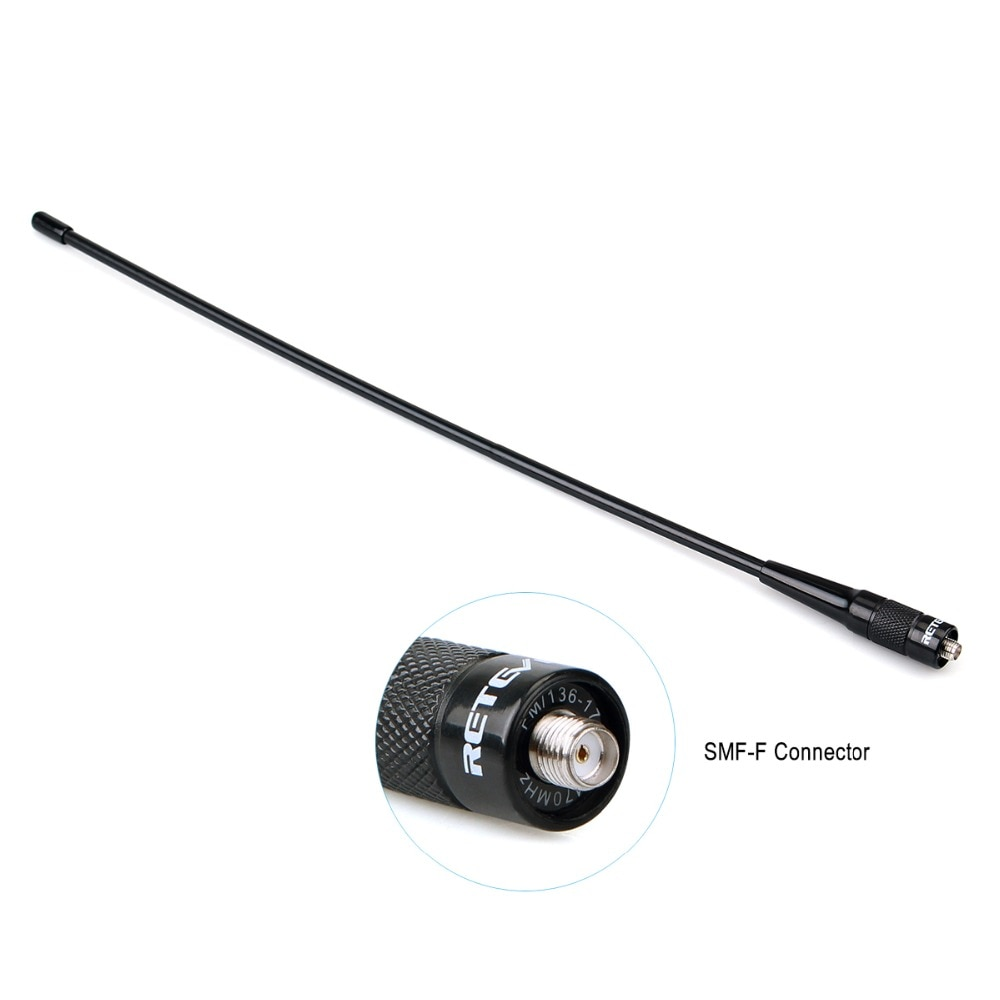 10pcs Retevis RHD-771 39cm SMA-F VHF UHF Ham Radio Antenna For Kenwood For Baofeng UV-5R BF-888S Retevis RT21 For HYT for Puxing enlarge
