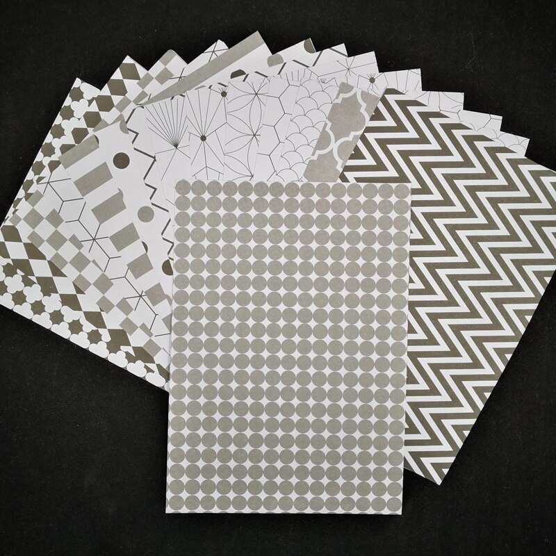ZFPARTY Desenho Geométrico Do Vintage Fundo Adesivos De Papel para Scrapbooking Projetos DIY/Álbum de fotos/Cartão Que Faz Artesanato