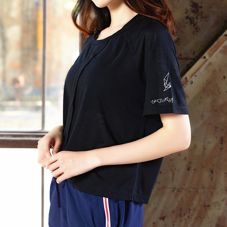 Hot fitness T-shirt women's loose short-sleeved women's yoga sports blouse breathable and quick-drying running short sleeve enlarge