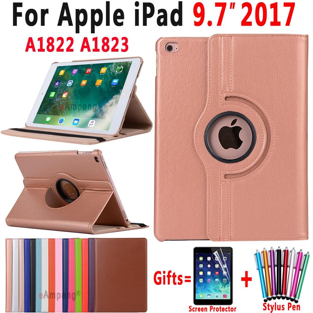 Case for Apple iPad 9.7  2017 5 5th Generation A1822 A1823 360 Degree Rotating Leather Smart Sleep Auto Awake Cover Funda