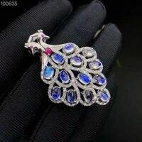 natural blue moon stone pendant phoenix big pendant european and american fashion styles beautiful jewelry