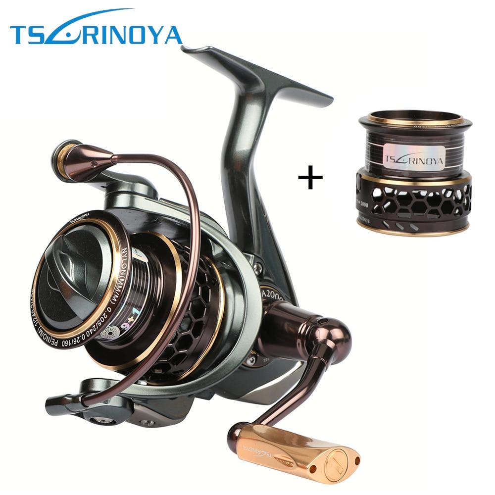 Tsurinoya Jaguar Spinning Fishing Reel 1000 2000 3000 Double Metal Spool Carp Wheel Fishing Tackle Equipment 10BB 5.2:1