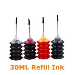 Блум 30 мл набор заправки чернил, красителей, совместимых с HP 123 чернильный картридж для Deskjet 1110 2130 2132 2133 2134 3630 3632 3638 3830 4520