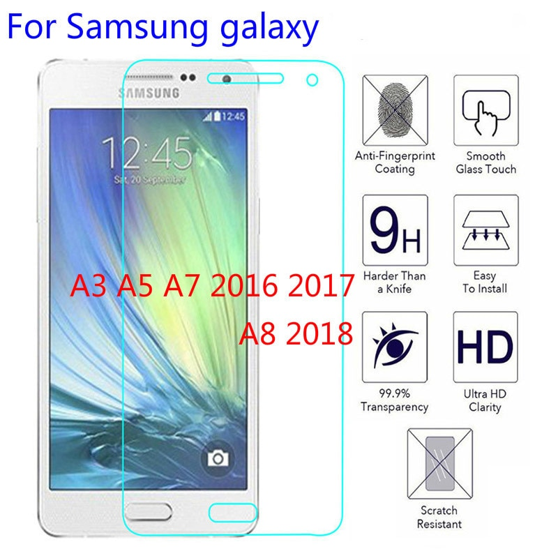 Screen Protector Tempered Glass For Samsung Galaxy A3 J3 J5 J7 2017 protector glass for A3 A5 A7 A8