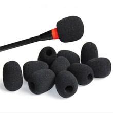 Cubiertas de esponja para parabrisas de micrófono, tapa protectora para cuello de cisne, 10 unidades