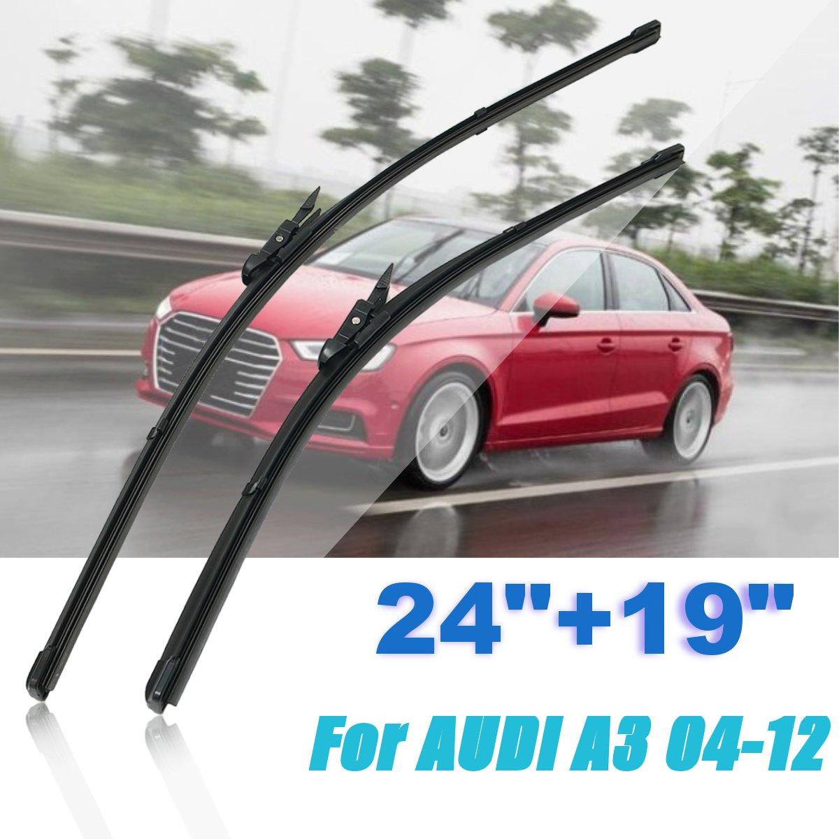Pasuje do Audi A3 2004-2012 RHD pojazd 1 para samochodów przednia prawa pióra wycieraczek do przedniej szyby 24 cale + 19 cali