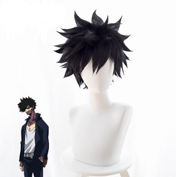 Un cierto índice mágico científico Railgun Toma Kamijo Touma Kamijou Cosplay Peluca de pelo negro de Color Halloween Carnaval
