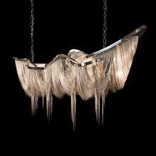 Moderne En Aluminium Chaîne lustre éclairage de luxe Italie Gland chaîne de baisse lampe Hall Hôtel Club Villa Projet Lumière
