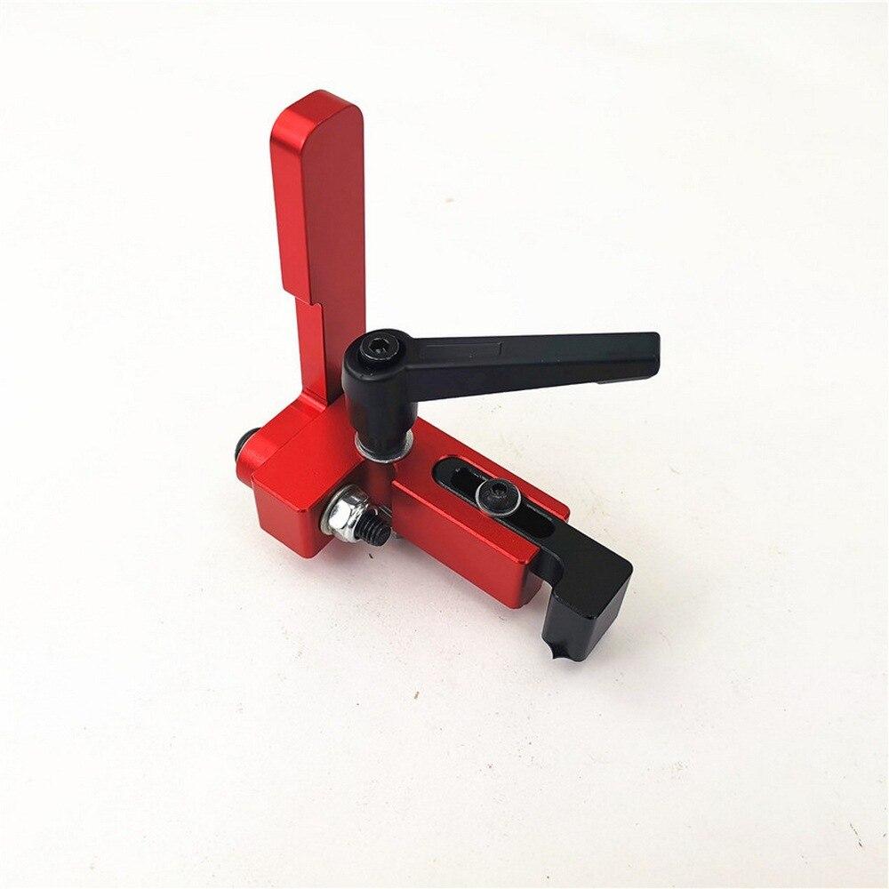 Modelo 30/45/75 canaleta de aleación de aluminio t-tracks carpintería estándar parada de guía de inglete herramienta de carpintería para banco de trabajo de carpintería