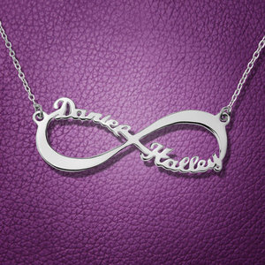 personalized custom infinity name necklace family necklace women birthday gift new mum gift Valentine's gift infinite necklace