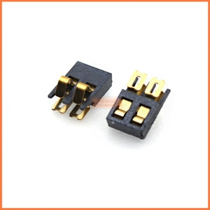 free shipping original 100pcs Side joint type battery holder 2Pin ,battery connector, mobile phone battery Connector
