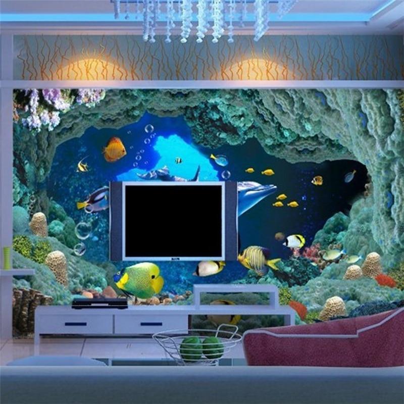 Обои на заказ для фото, обои для гостиной, ТВ, фон, подводный 3d обои для стен, обои для пола
