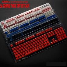 104 ключа SA keycap профиль высоты PBT профиль углерода ZEALER Keycaps с подсветкой для Cherry mx Переключатель механическая клавиатура поперечный вал