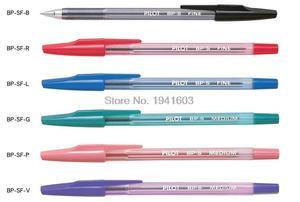 6 pcs/lot Pilot BallPoint Pen BP-SF 6 colors to choose Original Japan office and school signature pens