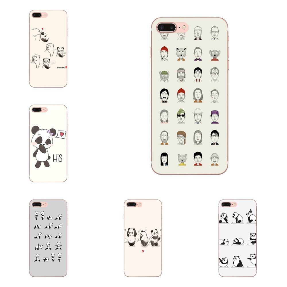 Fundas suaves para Xiaomi Redmi Mi Note 7 8 9 SE Pro Lite Go Play, Panda, Yoga, negro