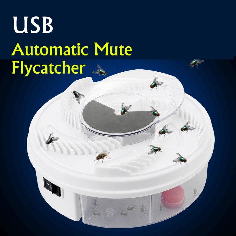 Elektrikli sinek kapanı Anti sinek öldürücü tuzakları otomatik Flycatcher cihazı böcek haşere kontrol Catcher sinek kapanı alıcı Usb