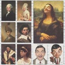 Mr. Bean Poster Grappige Kraftpapier Prints Muur Woondecoratie Vintage Stijl home art Merk MO46