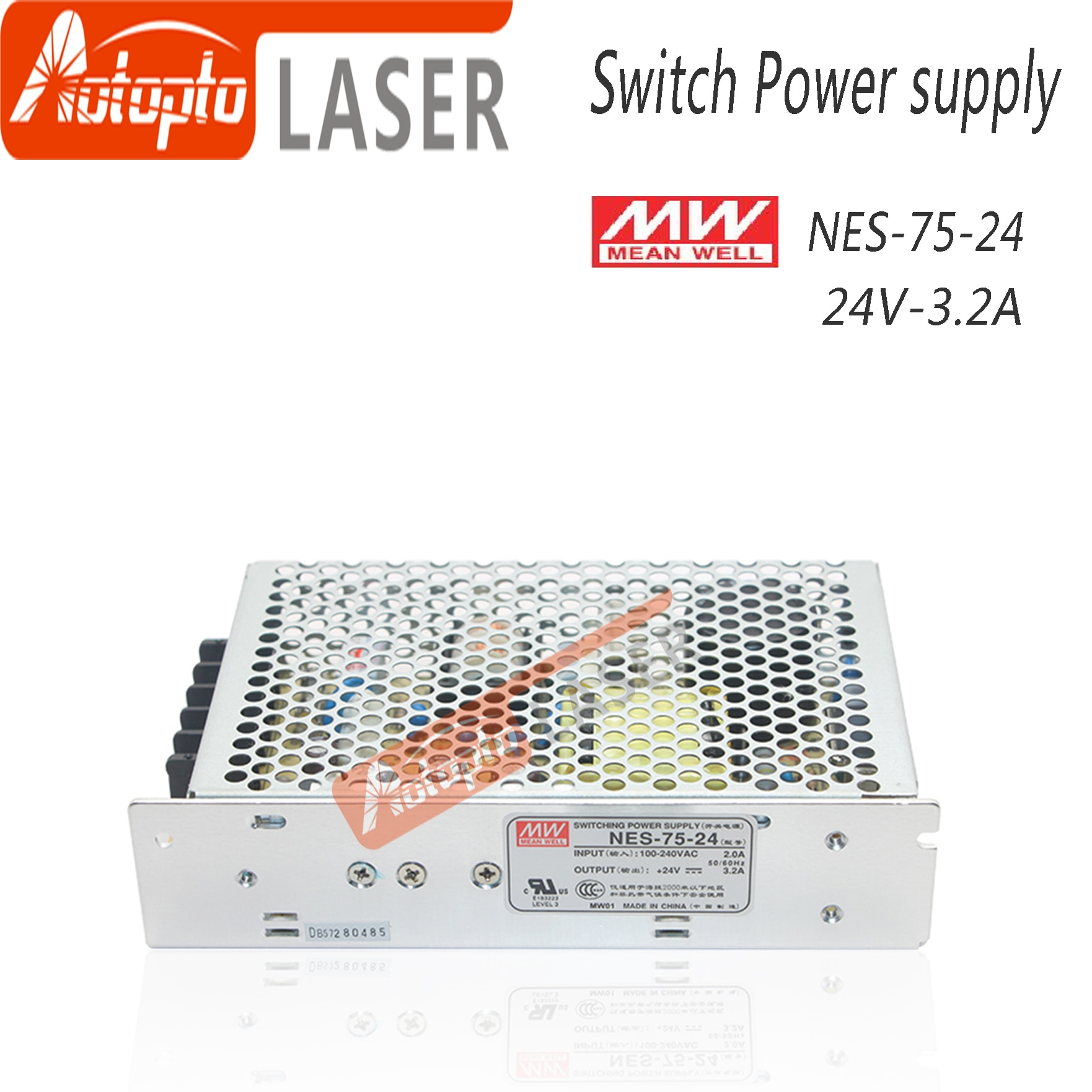 advantages mean well cen 75 15 15v 5a meanwell cen 75 15v 75w single output led power supply Taiwan Meanwell Switching Power Supply NES-75-24 5V 12V 15V 24V  48V  for Laser Controller Single output DC Power Supply