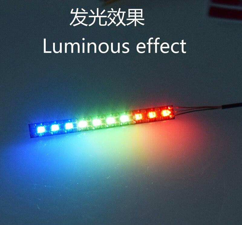 JHEMCU WS2812 tira de luz LED barra de luz Flexible 53*5*1 MM 3,3-5 V programable pequeño palillo de dientes para Dron de carreras FPV