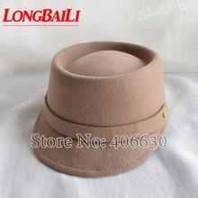 Chapeaux béret en laine pour femmes   Casquettes de chevalier en feutre dhiver, béret livraison gratuite, PWSX004