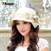 new arrival spring summer sun hat ladies large brim sun beach hat flower foldable sun hat female summer sun cap b 7705