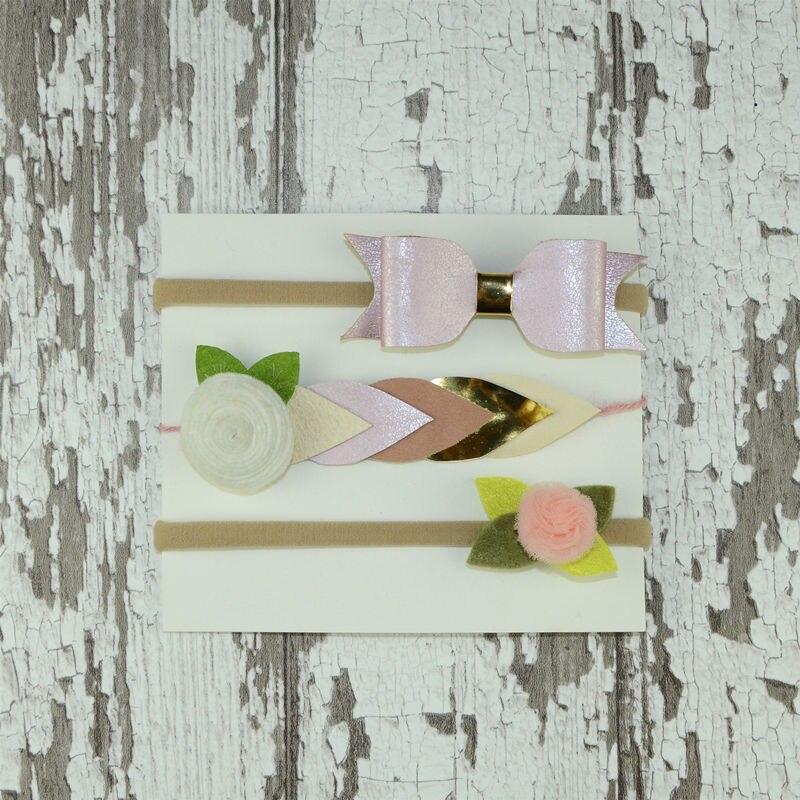 Nuevo conjunto de Diadema con lazo Floral único para la ducha de fiesta