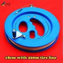 Livraison gratuite haute qualité 18 cm ABS cerf-volant roue bleue grand cerf-volant volant Traction outils cerf-volant poignée roue et 200 m ligne