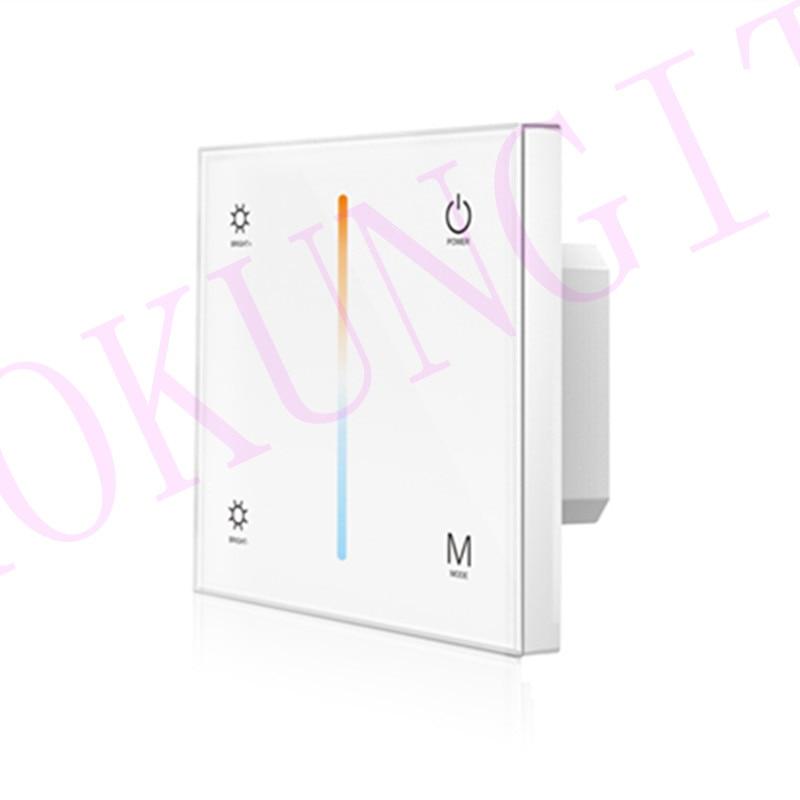 Controlador de Panel táctil de temperatura de Color 4CH * 3A 12-24VDC CV T2-1 Barra de temperatura de Color controlador de panel táctil T2-1