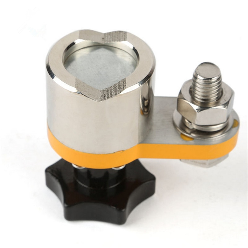 Imán de neodimio de tamaño pequeño, abrazadera de tierra de soldadura magnética, Conector de imán de conexión a tierra para máquina de soldadura, tierra de soldadura magnética