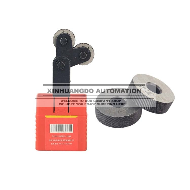 Diagonal de 0,4mm 8mm (ID) * 26mm (OD) * 8mm (H) rueda de moleteado lineal herramienta