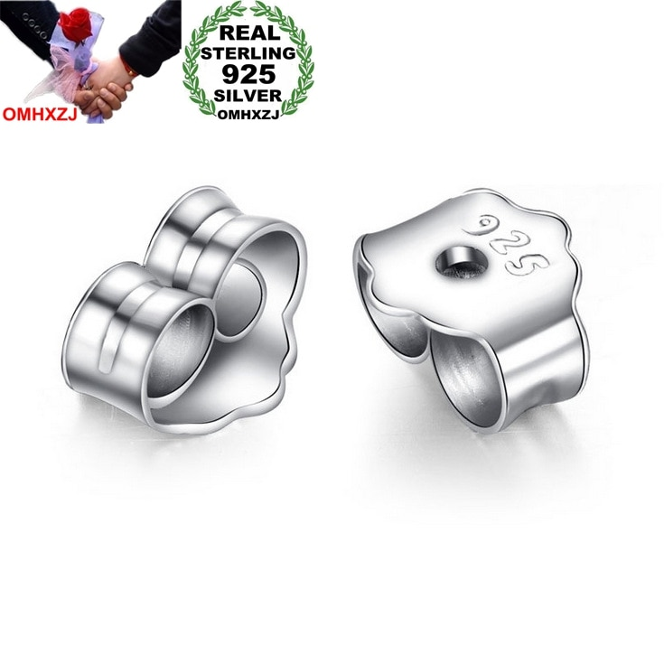 OMH wholesale Fashion jewelry Accessories 925 Sterling silver earplugs Ear plug Stud Earrings clasp YS110