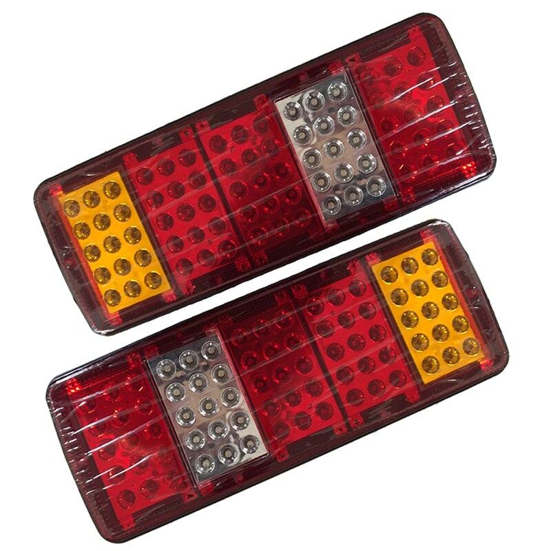 1 par 75LED luces traseras de coche detener la luz de señal de giro para camión 12V 24V camión