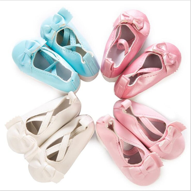 Born New Baby Fit 18 inch 43cm BJD Doll Shoes Accessories Shoelaces boots white red and blue shoes Suit For Baby Birthday Gift недорого