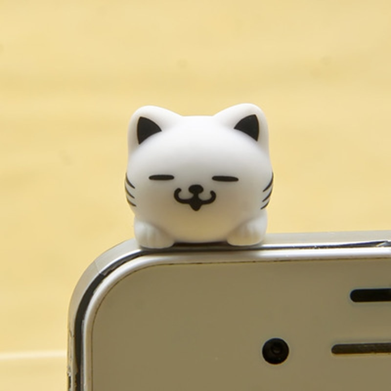 CatXaa 3,5 мм Пылезащитная заглушка для наушников 3,5 разъем порт музыка аудио Cat Kitty модель Пробка Для Huawei OPPO VIVO Meizu HTC-4