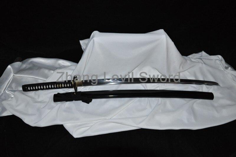 Un soporte libre + una espada japonesa 1060 acero de alto carbono completo tang Blade afilado-personalizado Real Espadas Katanas listo para la batalla