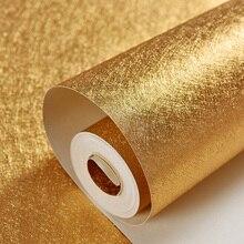 Классические роскошные золотые и Серебристые обои из фольги, водонепроницаемые обои для гостиной, спальни, потолочные обои в полоску с золотым блеском