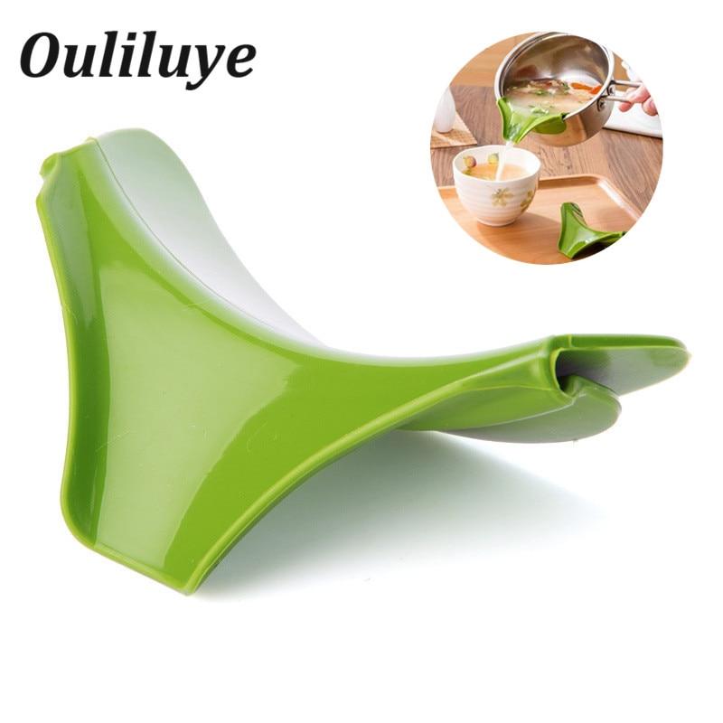 Embudo de silicona multifunción antiderrame para cocina, boquilla de silicona para cocina, accesorios de cocina, boquilla de silicona