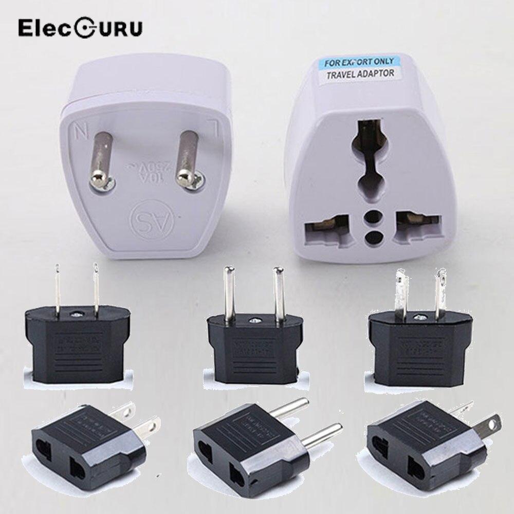 Adaptador de viaje Universal internacional enchufe eléctrico UE GE UK US AU enchufe convertidor AC adaptador de enchufe cargador de viaje