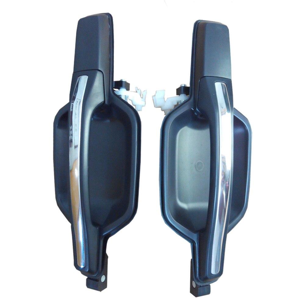2 uds trasera izquierda fuera coche negro manijas de puerta para Montero V75W V77W V73W V63W V64W V65W V68W V74W V78W 00-06