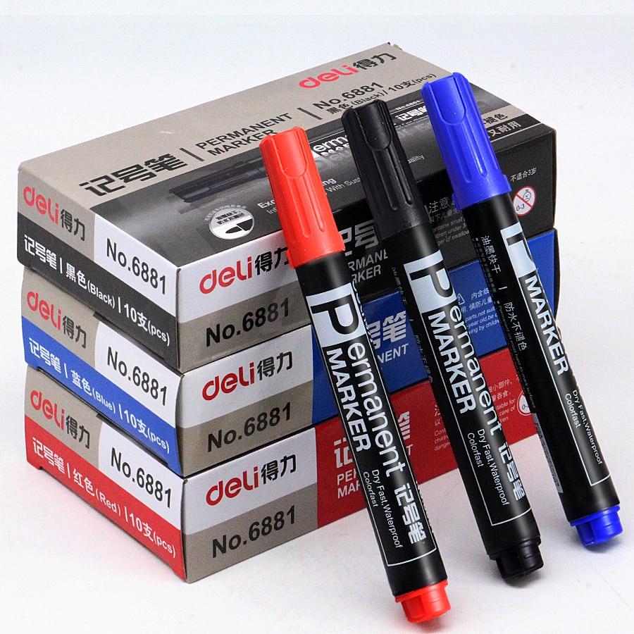 10-pezzi-offerta-speciale-deli-6881-pennarello-penna-olio-nero-rosso-blu-pennarello-espresso