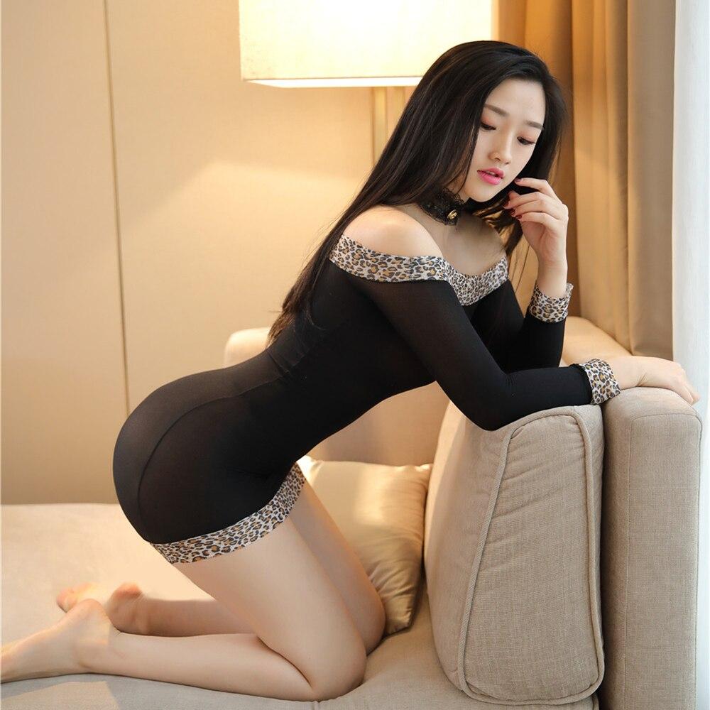 Sexy Lencería erótica mujer encaje traje de peluche transparente Halter Deep V picardías ropa interior transparente Porno Lenceria