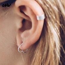 1pc Heart/Star Shaped Fake Tragus Piercings Hoop Helix Cartilage Tragus Daith Ear Studs Lip Nose Rings Piercing Earrings UVW002