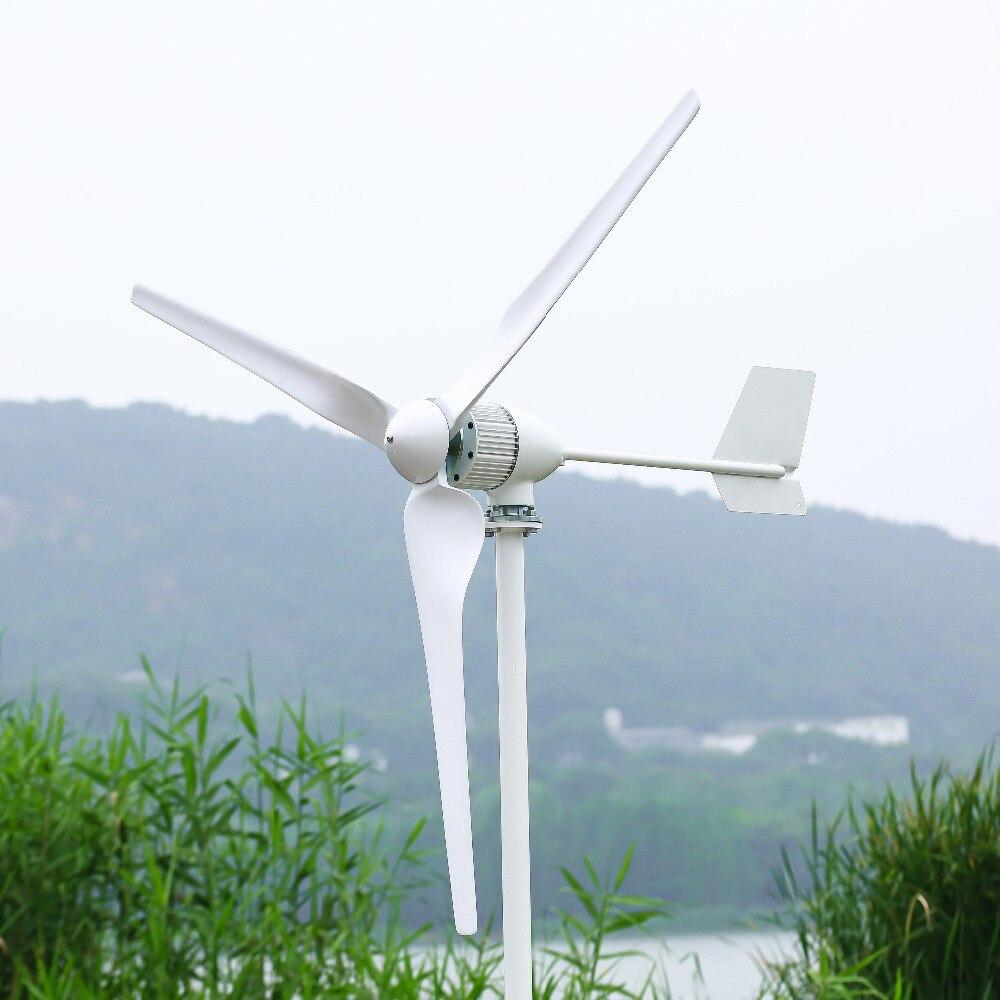 R & X 1000w turbina de viento de eje Horizontal con controlador de carga MPPT 24 v/48 v 3/5 cuchillas usadas para Marina CE certificada