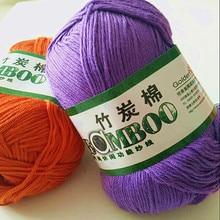 Hoge kwaliteit zacht en glad natuurlijke bamboe katoen hand geweven garen, baby katoen gehaakte gebreide stof