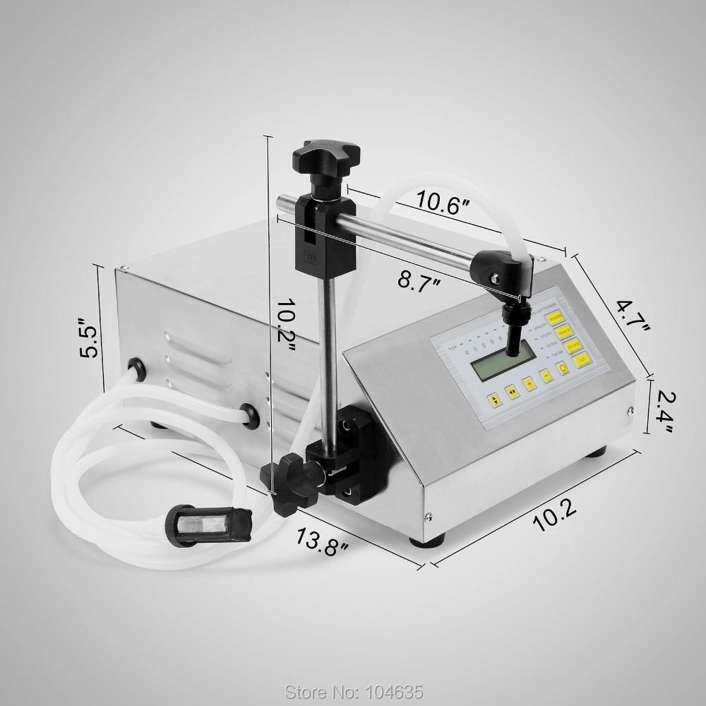 GFK-160 الرقمية التحكم مضخة شرب الماء السائل ملء آلة زجاجة ملء آلة الكهربائية حشو آلة 5-3500 مللي